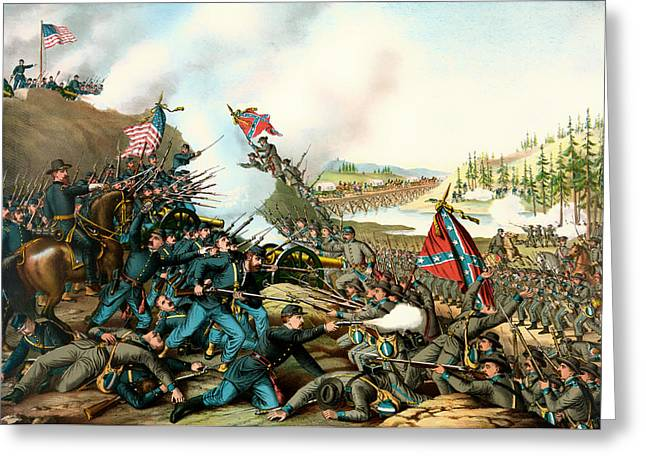 Battle Of Franklin Tennessee 1864 Greeting Card by Mountain Dreams