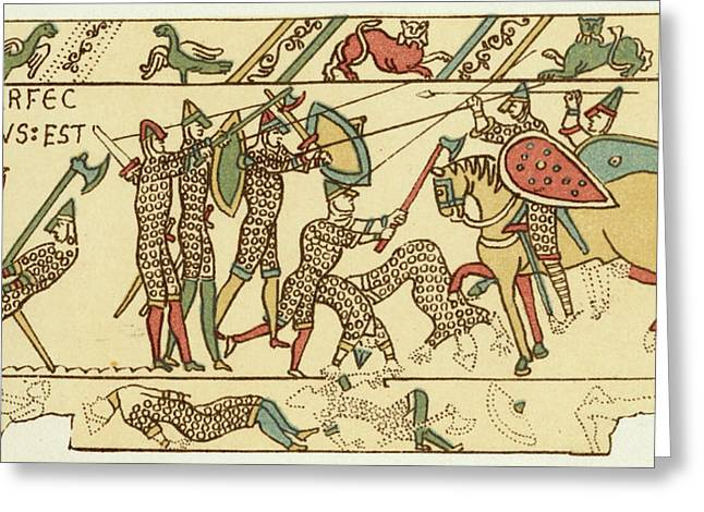 Battle Of Hastings The Battle Rages Greeting Card by Mary Evans Picture Library