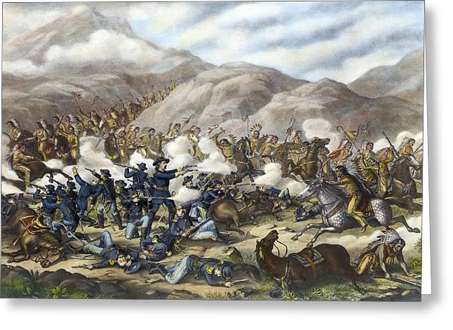 Battle Of Little Big Horn Greeting Card by Granger