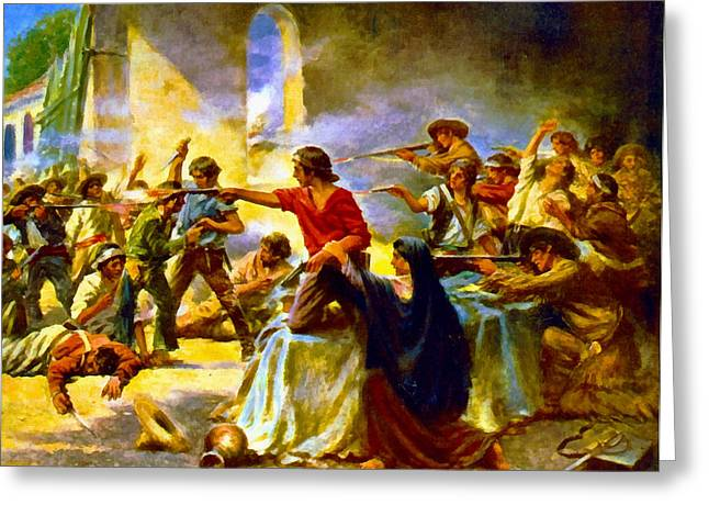 Battle Of The Alamo Greeting Card