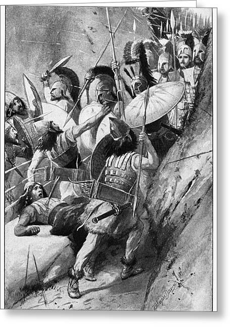 Battle Of Thermopylae Greeting Card by Granger