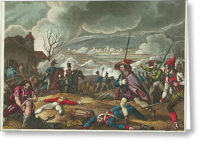 Battle Of Toulouse Greeting Card by British Library