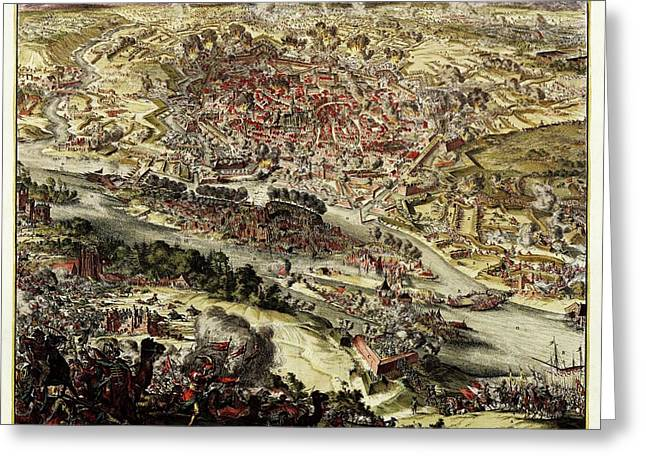 Battle Of Vienna Greeting Card by Library Of Congress, Geography And Map Division