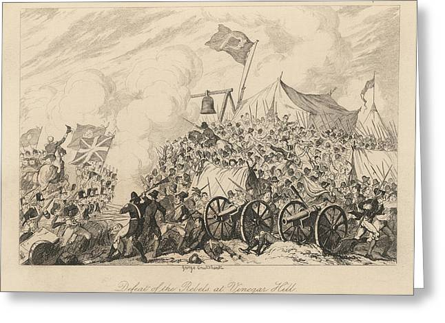 Battle Of Vinegar Hill Greeting Card by British Library