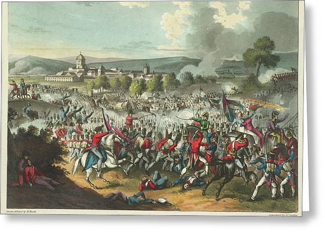 Battle Of Vittoria Greeting Card by British Library