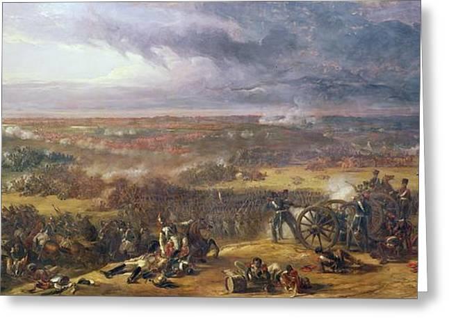 Battle Of Waterloo, 1815, 1843 Greeting Card