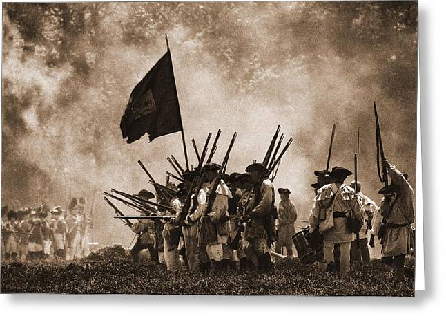 Battle Of Wyoming II Greeting Card by Jim Cook