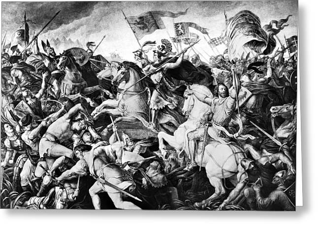 Battle On Marchfeld, 1278 Greeting Card by Granger