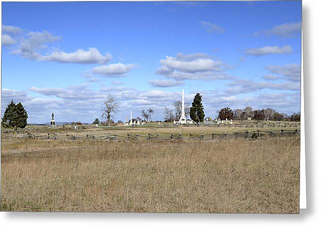Battlefield At Gettysburg National Military Park Greeting Card