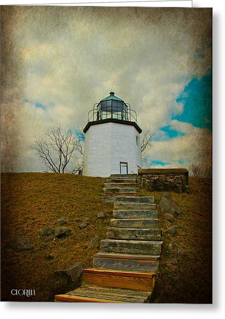 Battlefield Lighthouse  Greeting Card by Lorella  Schoales