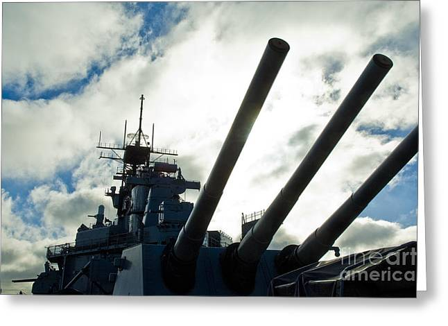 Battleship Uss Iowa 2 Greeting Card by Micah May