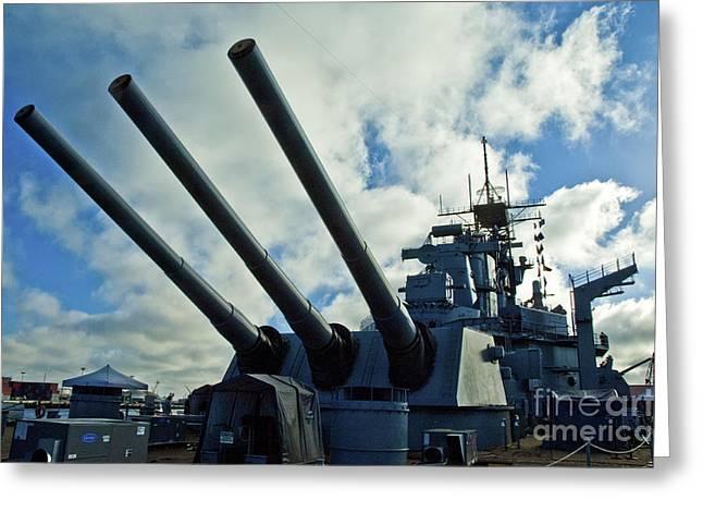 Battleship Uss Iowa 5 Greeting Card by Micah May