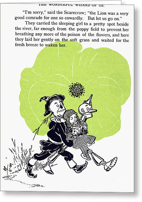 Baum: The Wizard Of Oz Greeting Card by Granger