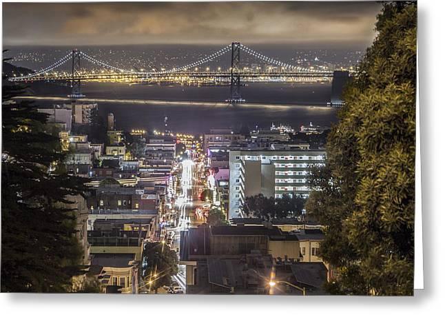 Bay Bridge In San Fransico  Greeting Card