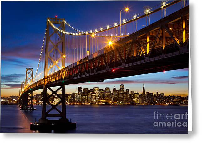 Bay Bridge Greeting Card by Inge Johnsson