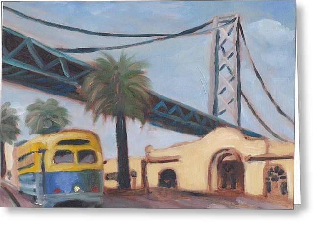 Bay Bridge Greeting Card by James Lopez