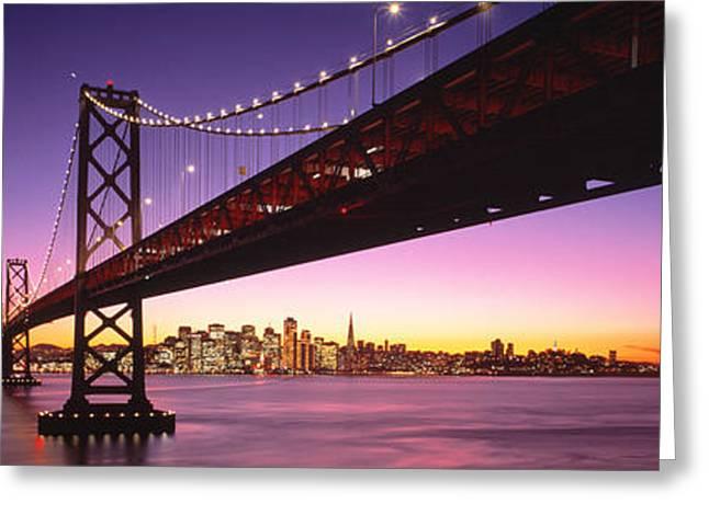 Bay Bridge San Francisco Ca Usa Greeting Card