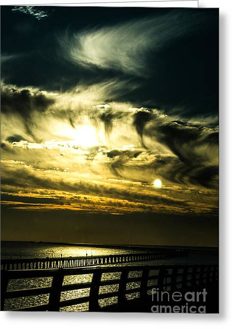 Bay Bridge Sunset Greeting Card