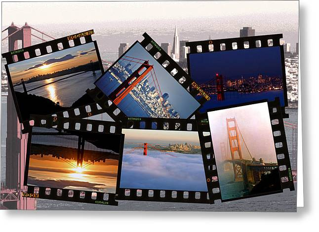 Greeting Card featuring the photograph Golden Gate Collage by Christopher McKenzie
