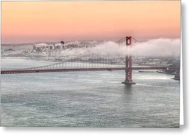 Greeting Card featuring the photograph Bay City Sunset  by Charles Garcia
