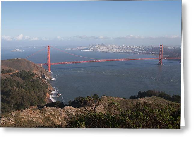 Bay From Marin Greeting Card by Alison Miles