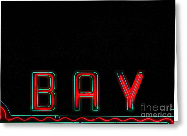 Bay In Neon  Greeting Card by Kris Hiemstra