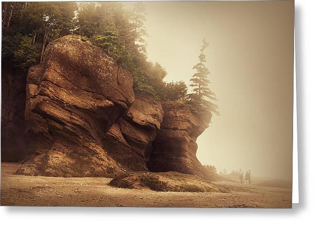 Bay Of Fundy Greeting Card by Magda  Bognar