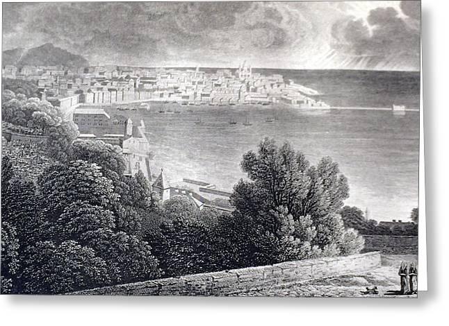 Bay Of Genoa Greeting Card