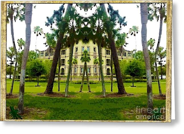 Bay Pines Greeting Card by Caroline Gilmore