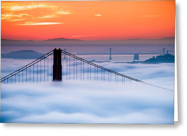 Bay Sunrise Greeting Card by Brian Bonham