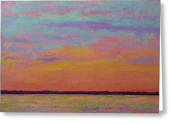 Bay Sunset Greeting Card