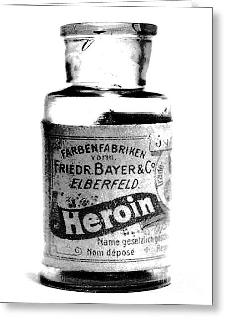 Bayer Company Sells Heroin Around 1900 Greeting Card