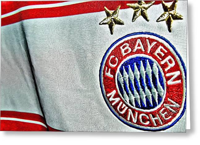 Bayern Munchen Poster Art Greeting Card by Florian Rodarte