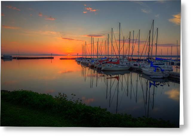 Bayfield Wisconsin A Safe Harbor Greeting Card by Wayne Moran
