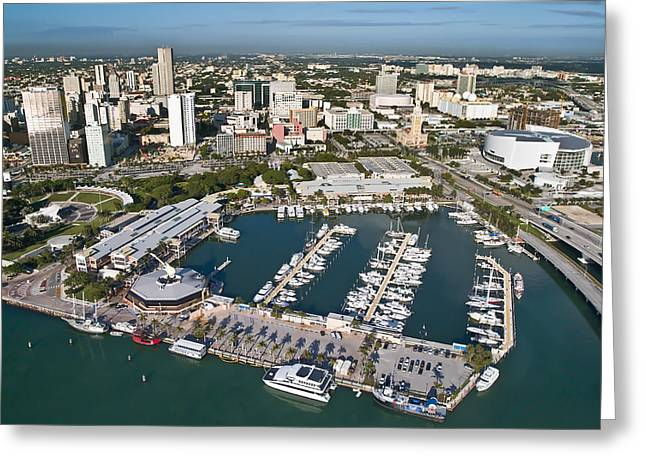 Bayfront Miami Greeting Card by Patrick M Lynch