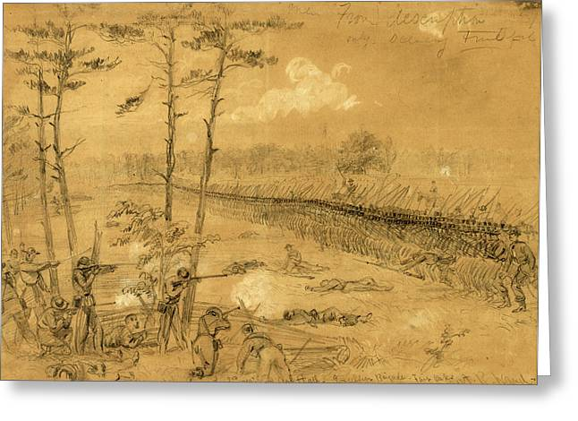 Bayonet Charge Of The 2nd Reg. Col. Hall Greeting Card