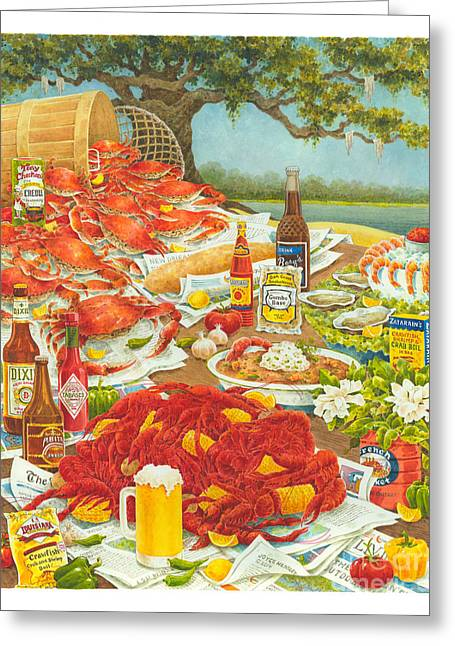 Bayou Banquet II Greeting Card by Joyce Hensley
