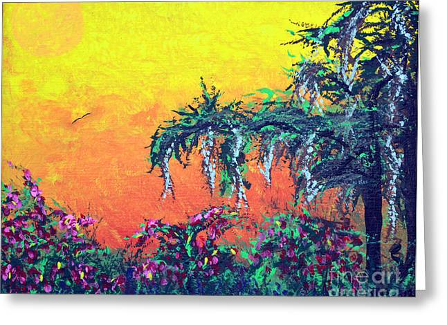Greeting Card featuring the painting Bayou Honeymoon by Alys Caviness-Gober