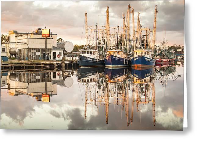 Bayou La Batre' Al Shrimp Boat Reflections 40 Greeting Card