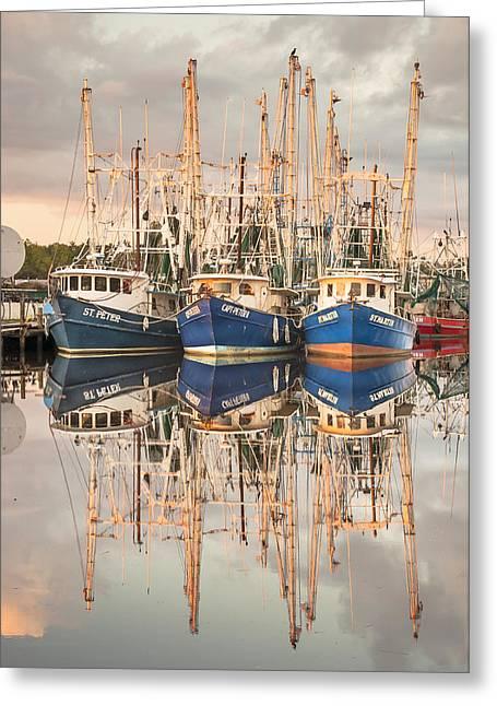 Bayou La Batre' Al Shrimp Boat Reflections 41 Greeting Card