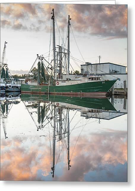 Bayou La Batre' Al Shrimp Boat Reflections 42 Greeting Card