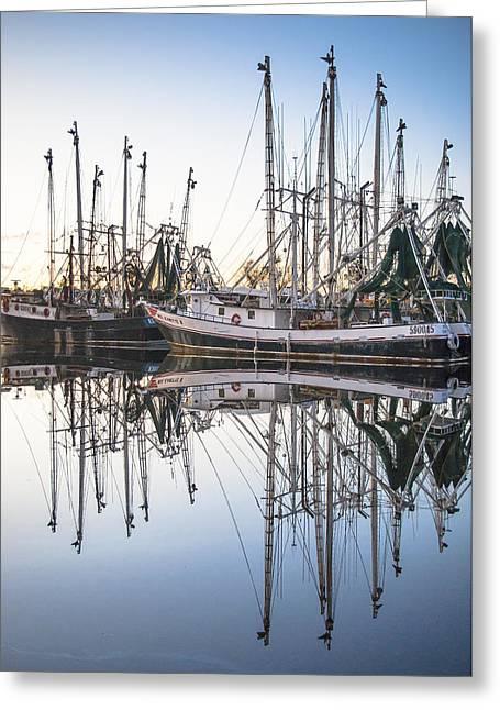 Bayou La Batre' Al Shrimp Boat Reflections 44 Greeting Card