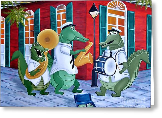 Bayou Street Band Greeting Card