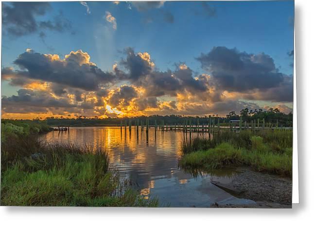 Bayou Sunrise Greeting Card by Brian Wright