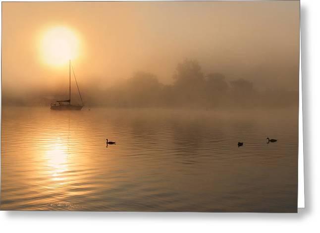 Bayside Sunrise 3 Greeting Card