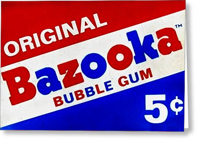 Bazooka Bubble Gum  Greeting Card