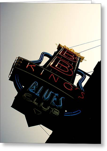 Bb King Blues Club Greeting Card by Off The Beaten Path Photography - Andrew Alexander