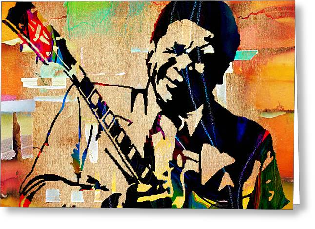 Bb King Collection. Greeting Card by Marvin Blaine