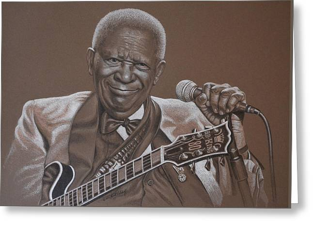 Bb King Greeting Card by Kurt Holdorf