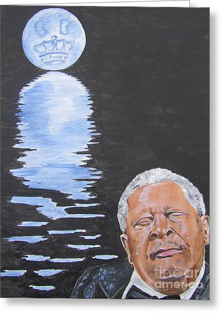 Bb King Painting Greeting Card